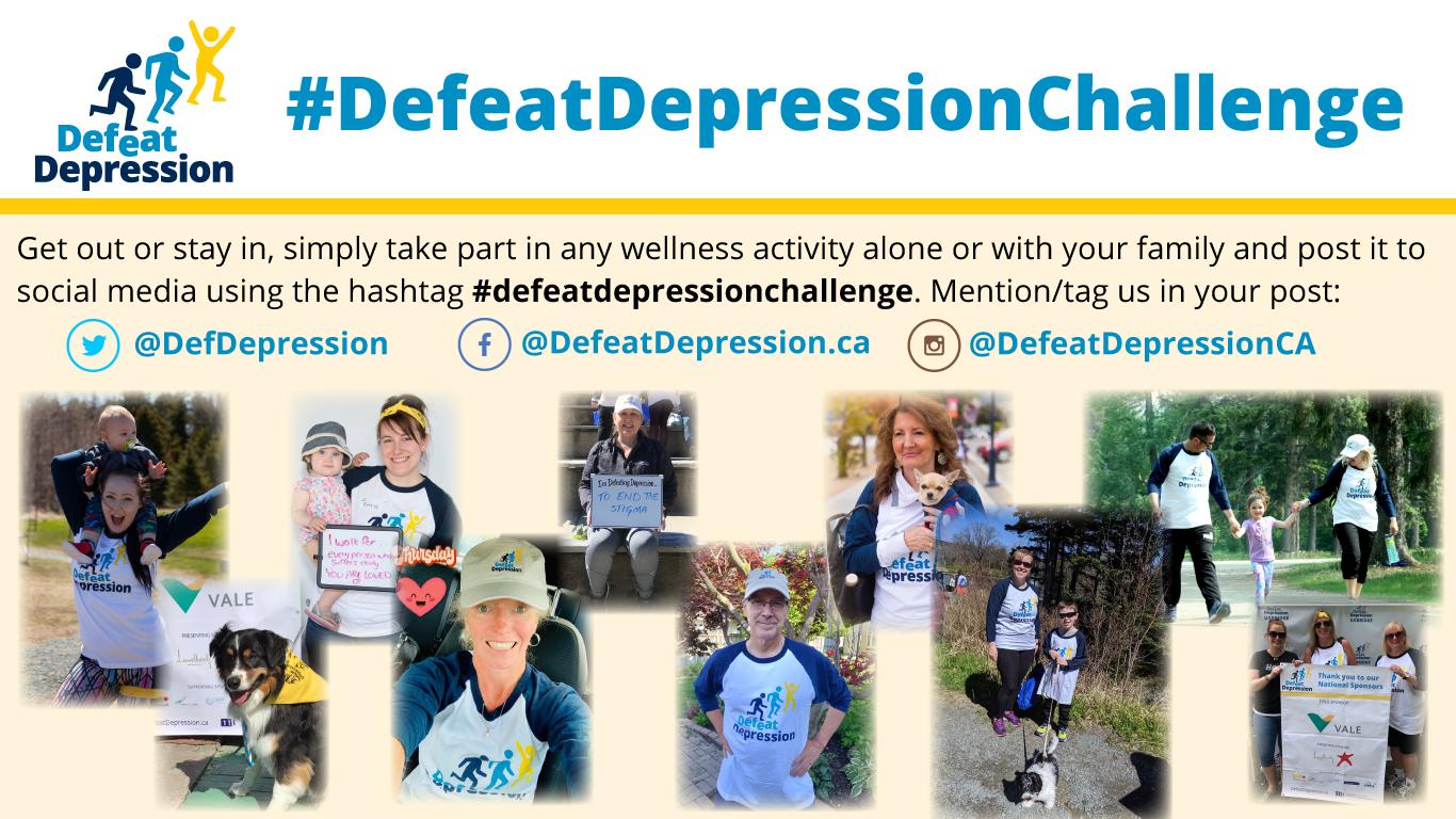 #defeatdepressionchallenge