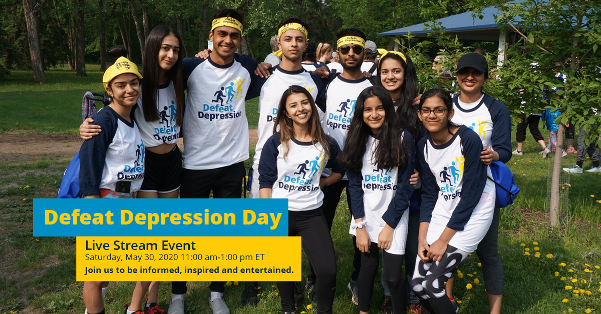 Defeat Depression Day May 30th 11 AM ET